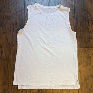 Lululemon White Muscle Tank